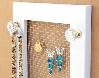 Jewelry Holder,  Earring Holder, Necklace Holder , Wall Mounted jewelry Holder, Jewelry Organizer