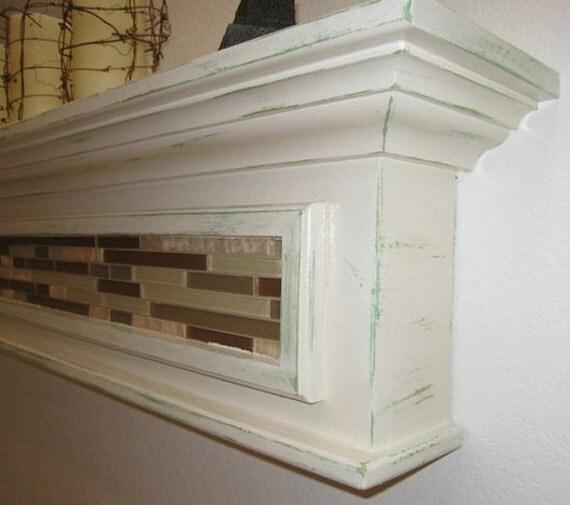 Items Similar To White Distressed Wall Shelf