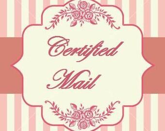 Certified shipping fee.
