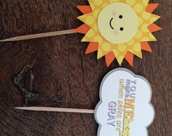 You are my Sunshine Cupcake Toppers (Set of 30)