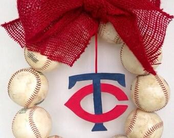 Minnesota Twins Baseball Wreath