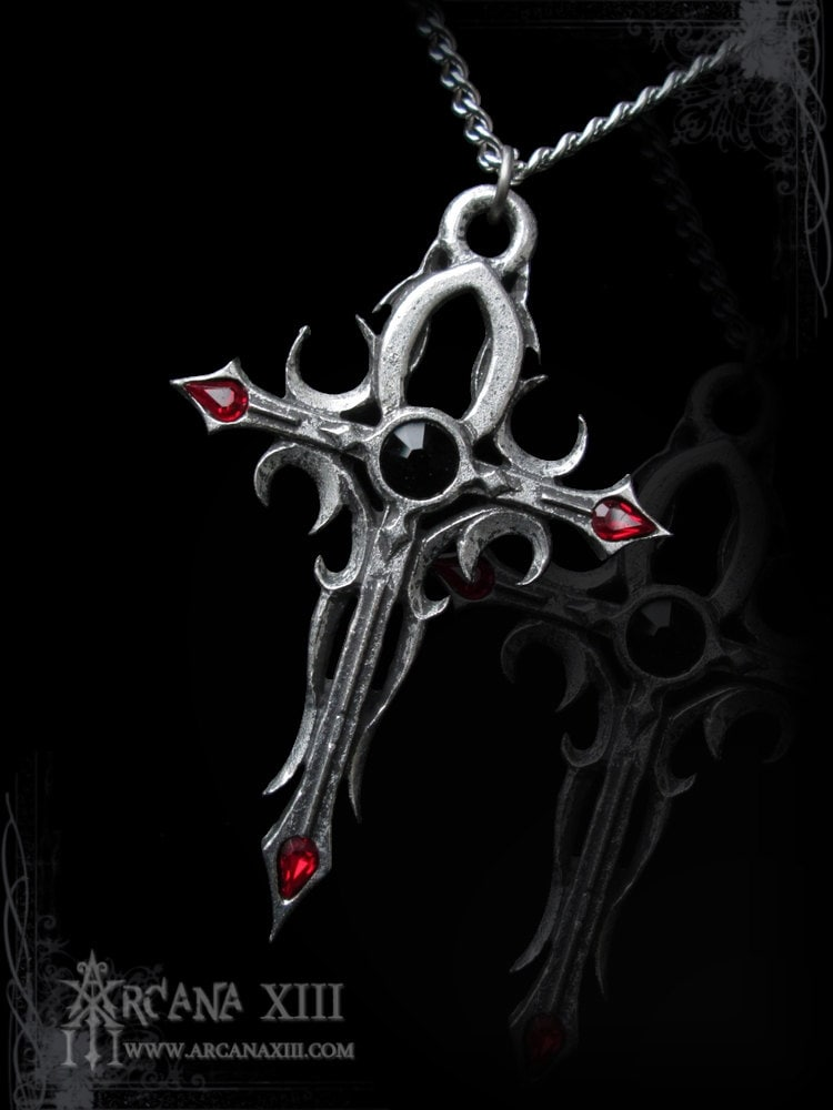 Handmade Gothic Harajuku Fashion W H Naoto Spiderweb Bag: Handmade Gothic Ankh Handmade Isis Cross Nauseank Large