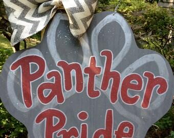 Wooden, Hand Painted Paw Print Door Hanger