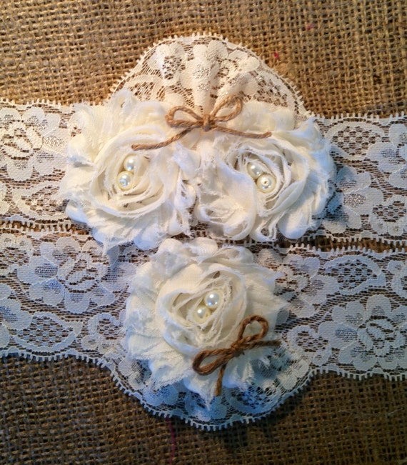 Country Wedding Garters: Wedding Garter Rustic Garter Fall Wedding By TheHeritageBride
