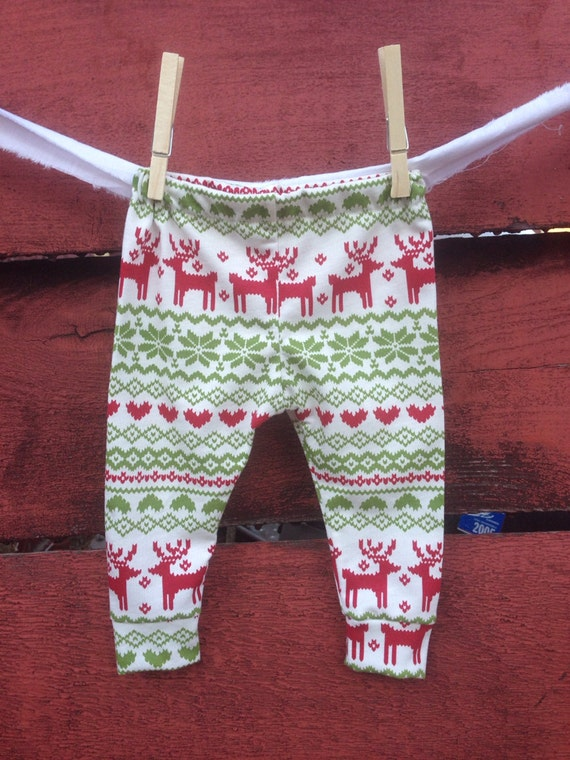 Christmas Fair Isle leggings holiday baby by ...