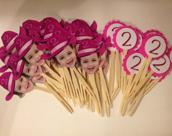 Photo cupcake toppers package 1