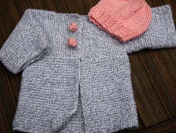 Knitting Pattern Baby Girl Jumper : PATTERN knitting baby boy or girl sweater / by MylasKnitCorner