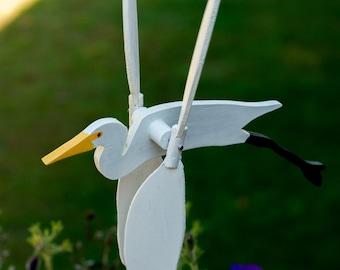 Great Egret Whirligig