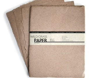 "200 Shts Deckled/Natural 8.5"" x 11"" Printable Natural Paper (Deckled Edge) (Natural)"