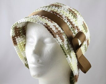 Brimmed Chemo Hat in Woodland Colors