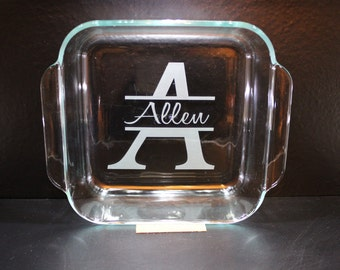 Personalized Pyrex Baking Dish with Lid - Wedding, Anniversary, Birthday......
