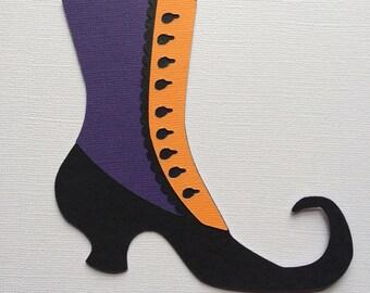 Witch's Shoe Halloween Paper Piecing