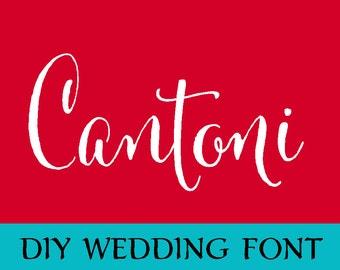 Cantoni DIY Wedding Font