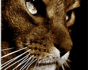 Kitty-- cross stitch--pattern--PDF file--Instant download