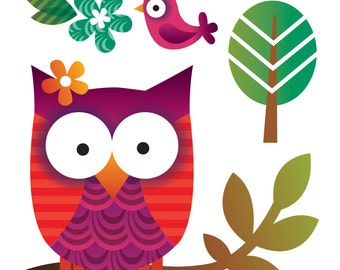 Temporary Tattoos - Owl