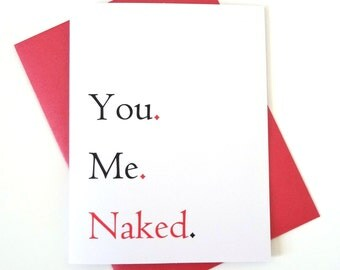naughty sexy love card for birthday or anniversary card