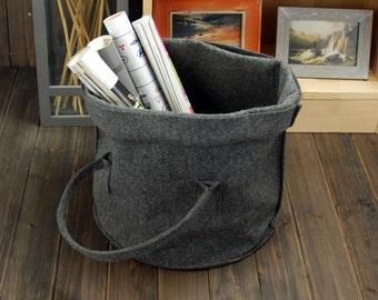 Felt Storage Box Storage Basket Container Box Big Box Storage Bin Bag Organizer Box Basket Custom Made E975