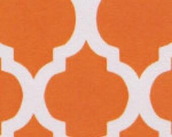 HALF YARD Orange Quatrefoil Fabric Finders Cotton Fabric