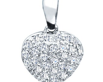 Sterling Silver Unique Fashion Pendant with Diamonds G-H I2-I3