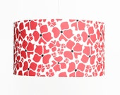 Modern Lamp Shade - Pendant Light - Swag Light - Poppies - Red, White, and Black