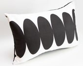 """Modern Pillow Cover - 12"""" x 20"""" Black and White - Exclusive Design - Fall Winter 2013 - 14"""