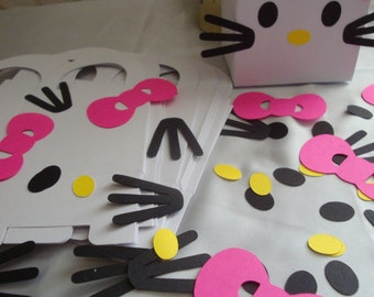 Kitty Birthday Party Activity Packages-set of 12. cut outs
