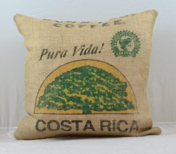 Burlap fabric pillows decorative pillow throw by oldlakegeorge for Decorative burlap bags