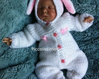 "Knitting Pattern 9"" bunny all-in-one set"