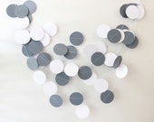 Wedding Garland, Paper Garland, Gray Garland, Photo Prop, Party Decorations, Bridal Shower Decor, Baby Shower Decoration, Bunting