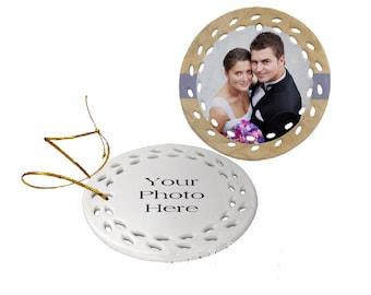 Personalized Round Ceramic Ornament