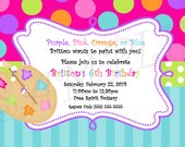 Painting Theme Invitation - InvitesBySandi