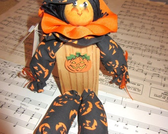 Polly's Pals Candy Kids Halloween Decorative Shelf Doll