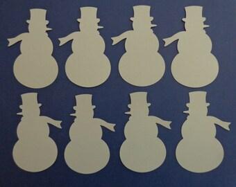 30 Large Snowman Punches, Snowman Die Cuts, Christmas Punch, Christmas Die Cut, Snowman Party Decor