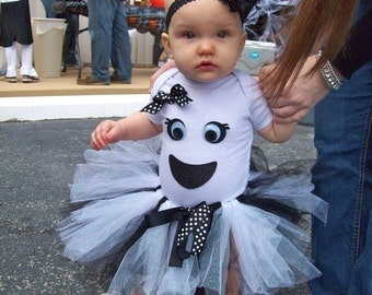 Toddler Girl's Ghost Tutu Costume 2T-5T