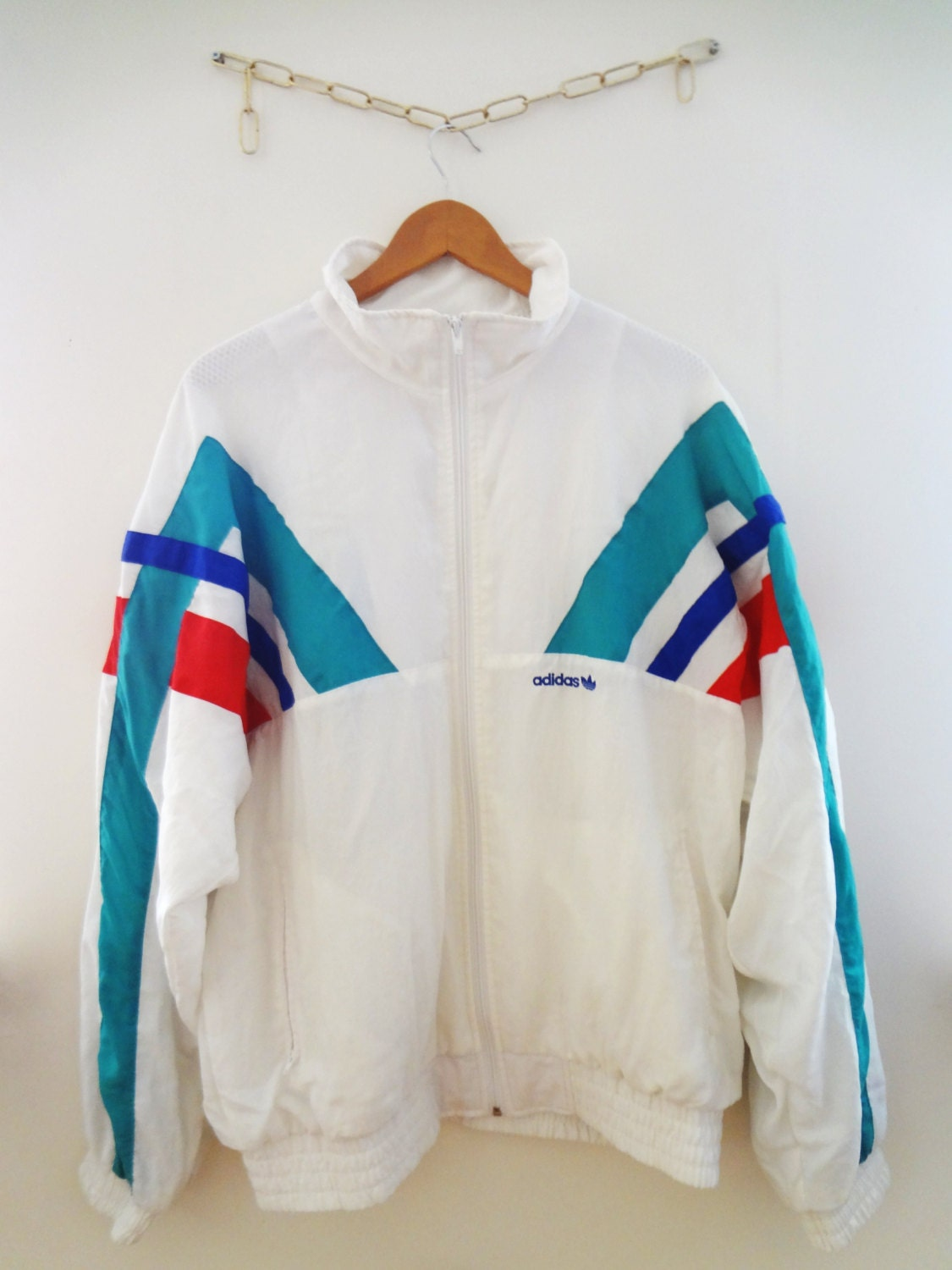 vintage adidas jumper windbreaker bomber jacket. Black Bedroom Furniture Sets. Home Design Ideas