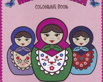 "Russian Doll Colouring Book - ""The Little Matryoshka Colouring Book"""