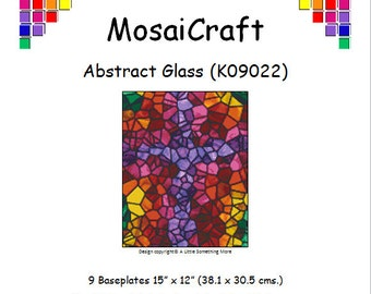 MosaiCraft Pixel Craft Mosaic Art Kit 'Abstract Glass' (Like Mini Mosaic and Paint by Numbers)