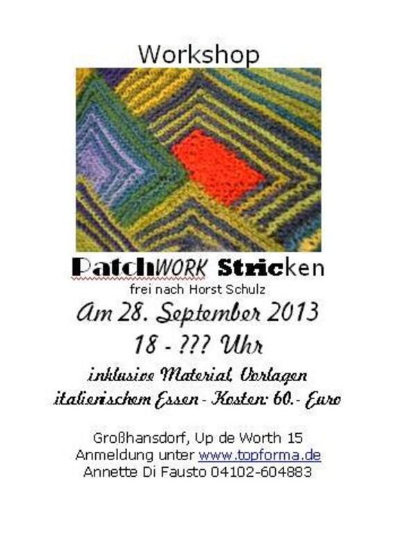 Workshop Patchwork Stricken bei der Langen Nacht des Strickens - DaWanda