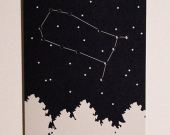 Zodiac Constellation Card (Gemini)