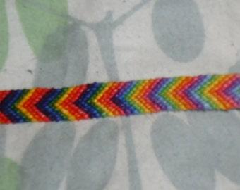 Rainbow pride ombre chevron friendship bracelet FREE SHIPPING to USA
