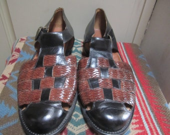 Vtg. Mens Johnston& Murphy Shoes Size 10.5 Made In Italy