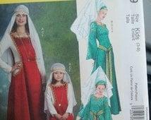 Misses Childrens  Girls Princess Medieval Costumes Victorian  renaissance costume Pattern Mccall