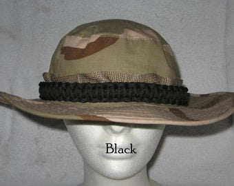 Paracord Hat Band For Boonie Style Hats