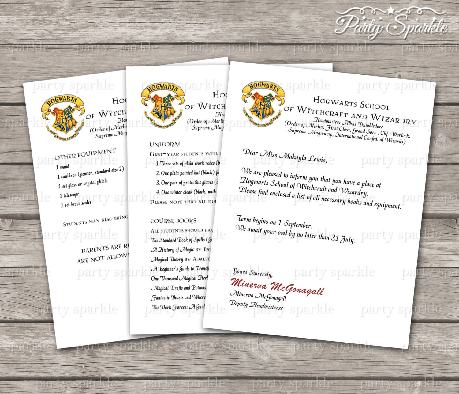 This is a picture of Striking Free Printable Hogwarts Acceptance Letter