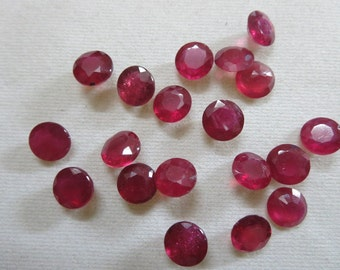 1pc Natural Ruby Round 8X8 mm RUBY 8mm round lead fill treatment always ask supplier what they are selling ruby wholesale ruby 8mm cutstone