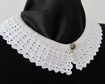 Vintage pattern from the 40, crochet collar, Peter Pan collar, DIY