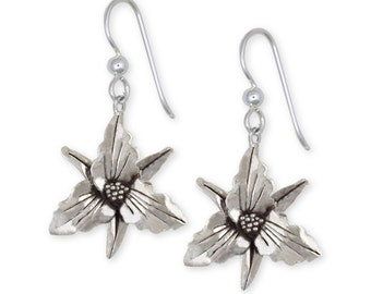 Sterling Silver Trillium Earrings Jewelry  TLM1-E