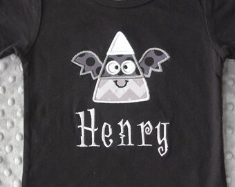 Candy Corn Bat Appliqued Shirt