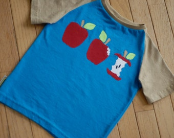Upcycled handmade carrot t-shirt. Size 4T