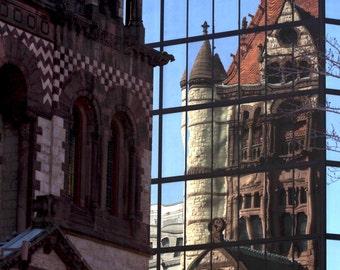 Photo Print - Trinity Church, Back Bay, Boston, MA, Reflections